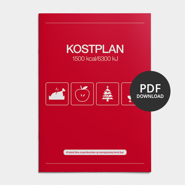 Image of   Kostplan 1500 kcal - Juletillæg