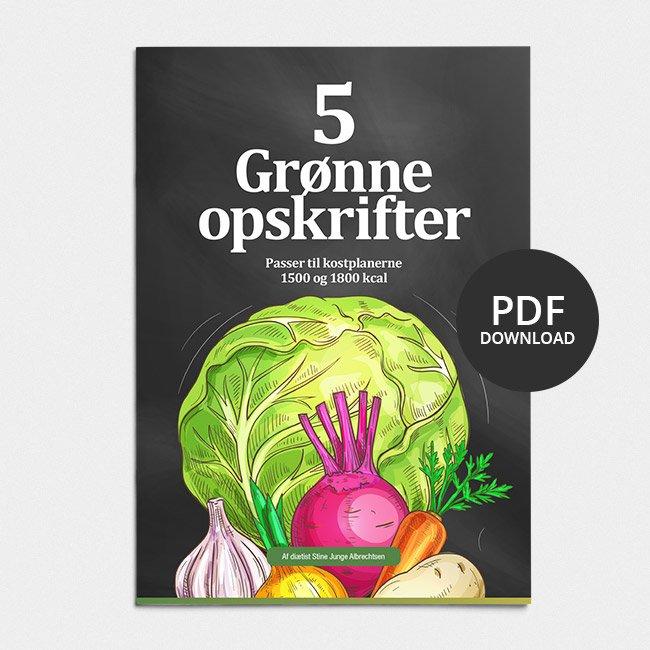 Image of GRATIS 2: Fem grønne, sunde og lækre ekstra opskrifter til kostplanerne 1500 og 1800 kcal