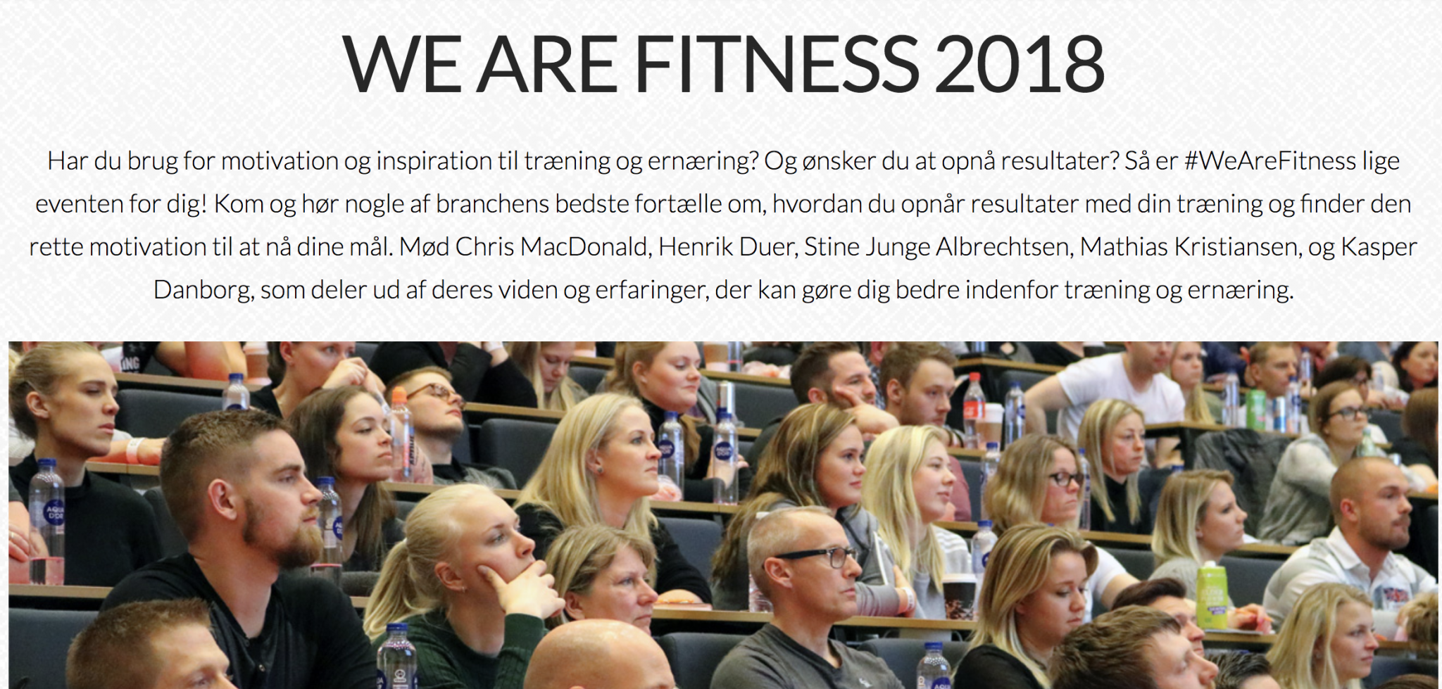 Image of   We Are Fitness 2018 handouts